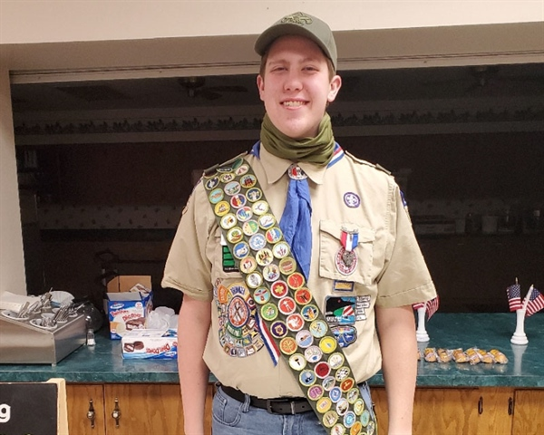 Amery Eagle Earns all Merit Badges - Awarded Eagle Scout Scholarship